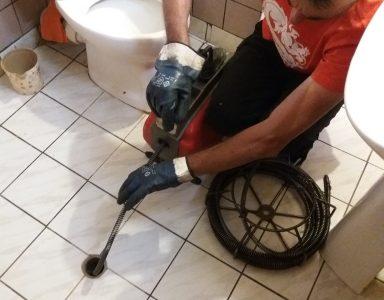 машинно отпишване на сифон на тоалетна